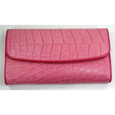 Pink Crocodile Womens Purse