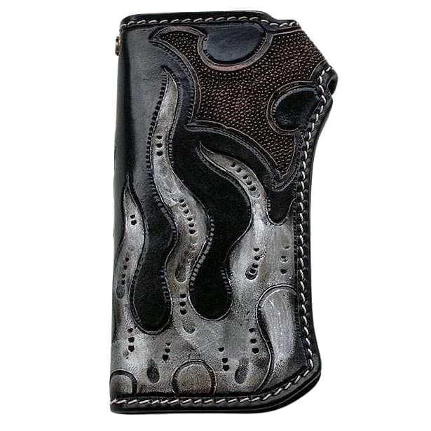 Genuine Leather Pirate Chopper Wallet