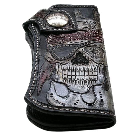 biker leather wallet