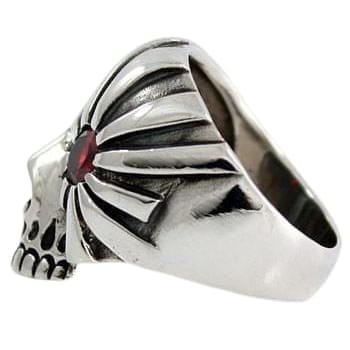 Sterling Silver Pirate Skull Ring