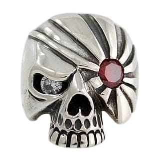 925 silver skull pirate ring