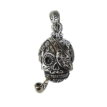 Pirate Sugar Skull Steampunk Pendant