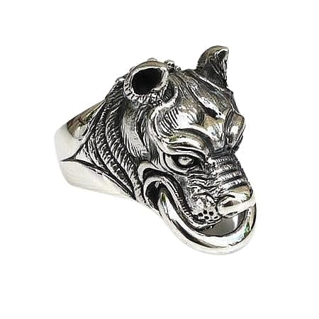dog head biker jewelry