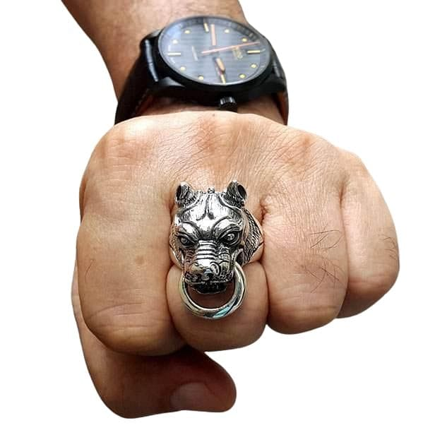 dog ring on hand