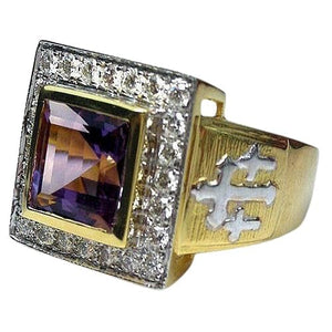 Amethyst bishop ring