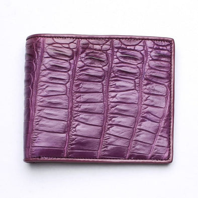 Purple Crocodile Tail Skin Mens Wallets