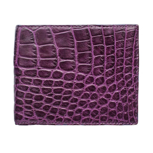 Genuine Purple Stomach Belly Crocodile Skin Wallet