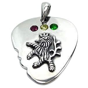 rasta lion guitar pick pendant