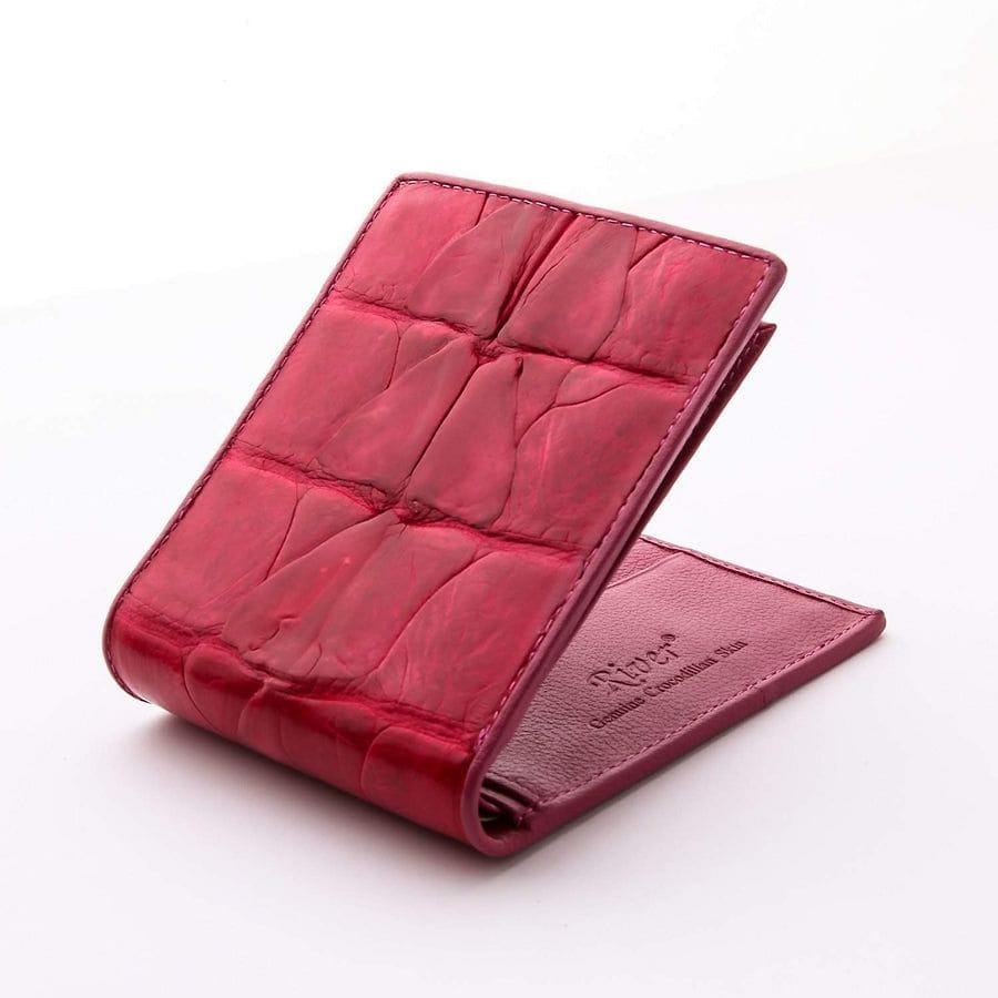 red crocodile skin wallet