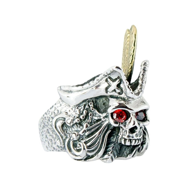 red eyes skull pirate ring
