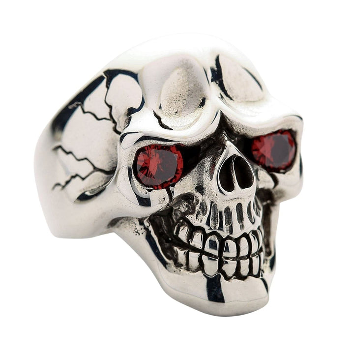 Red Eyes Skull Rings