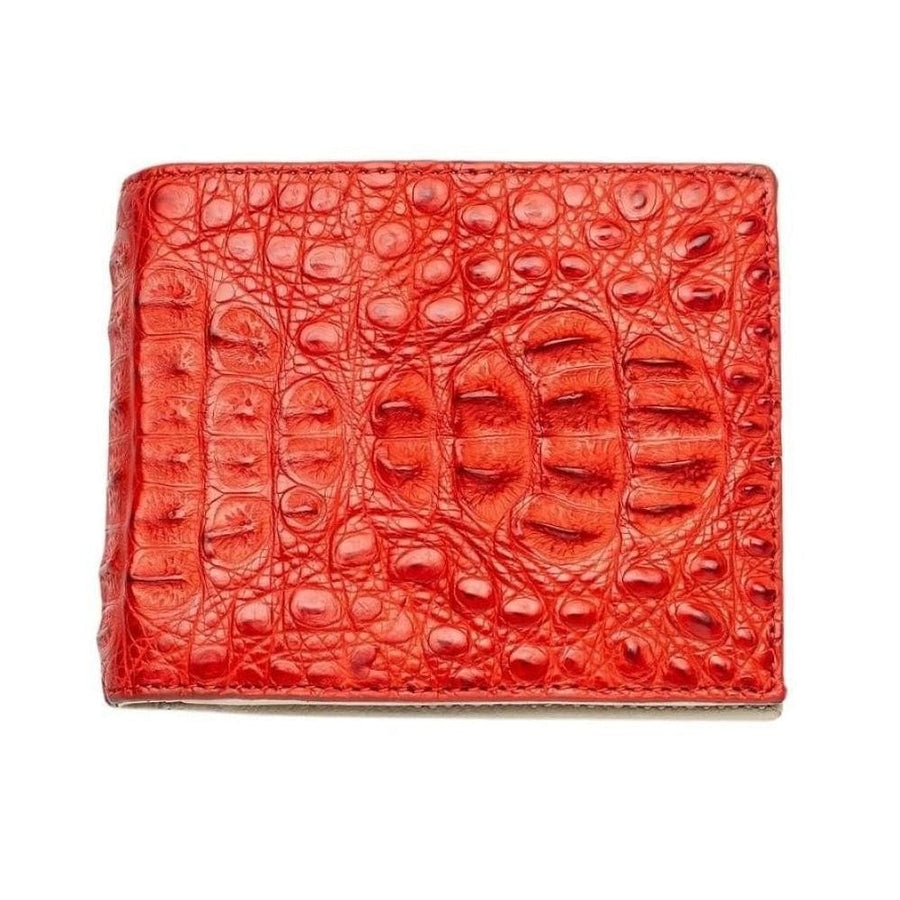 red crocodile men's wallet