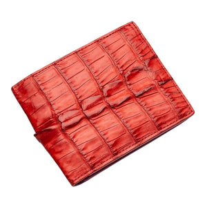real red crocodile leather wallet