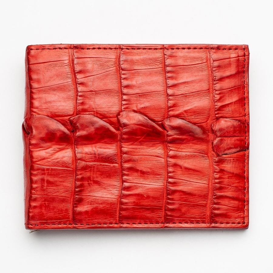 genuine red tail crocodile wallet