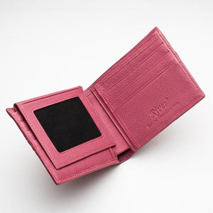 Red Genuine Crocodile Tail Skin Mens Wallet