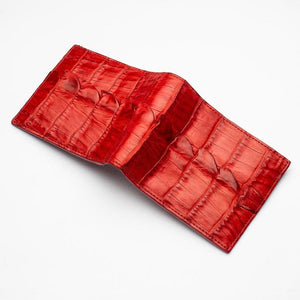 red tail alligator crocodile wallet