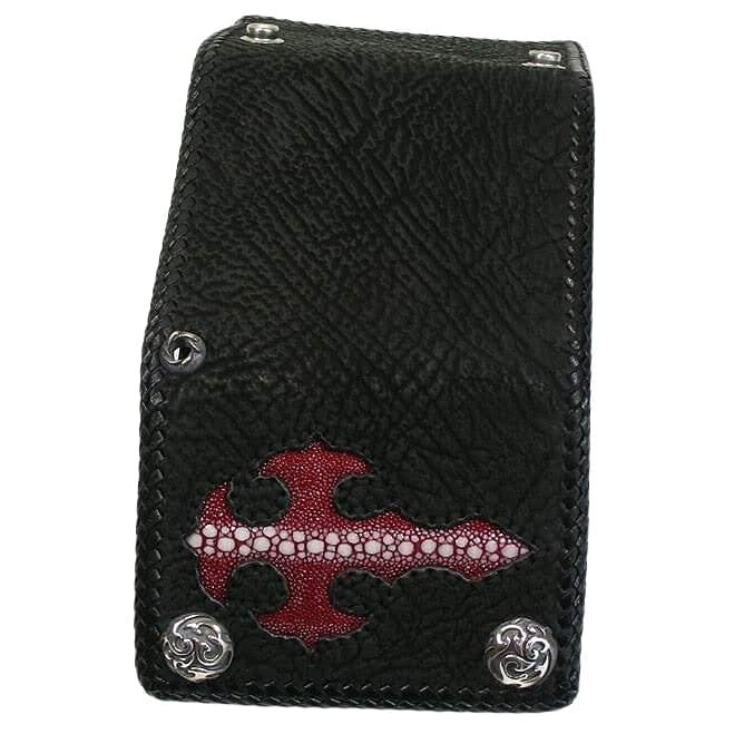Red gothic cross wallet