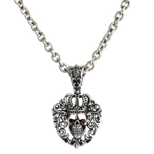 Red Eyes Queen Crown Skull Pendant