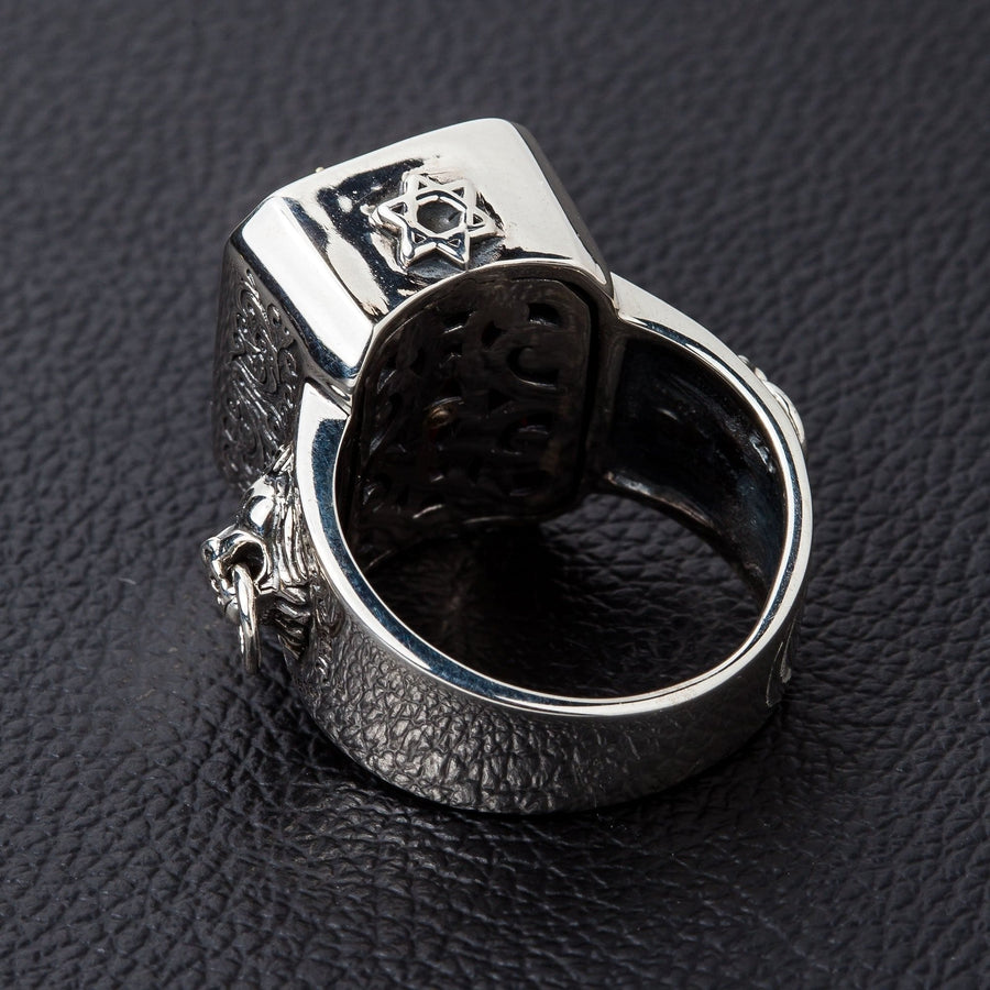Red Stone Lion Ring
