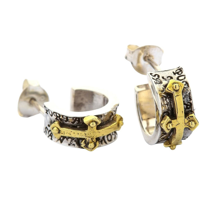 Anting Salib Rocker Perak Sterling