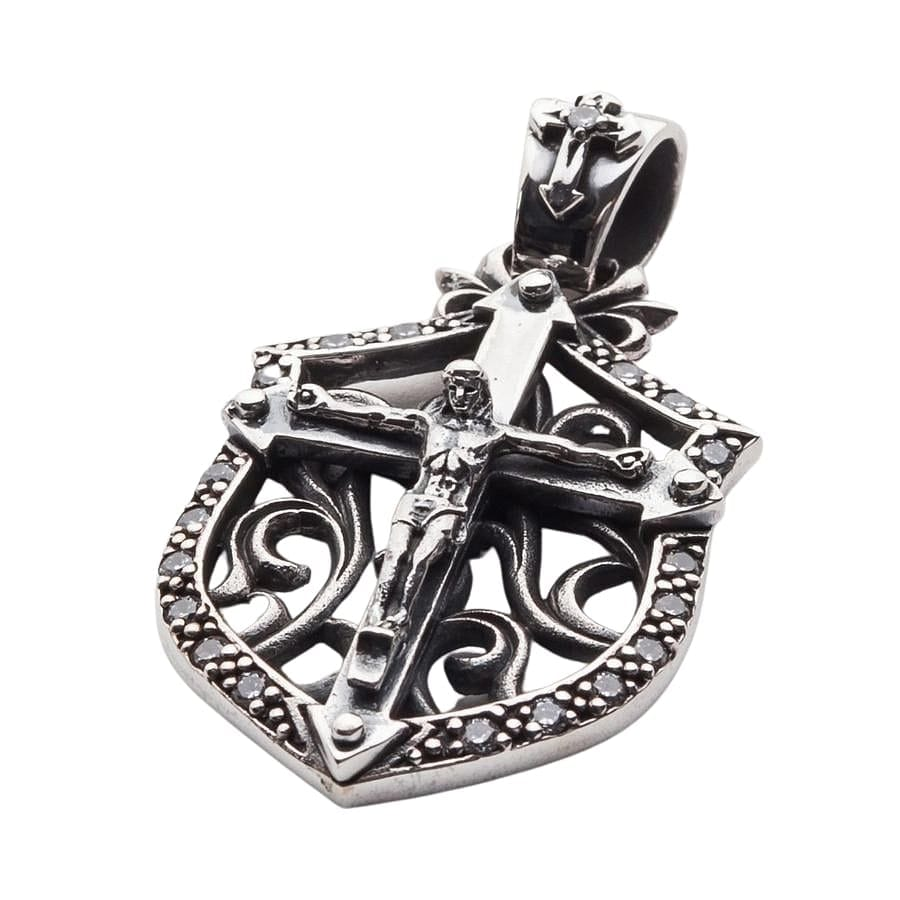 925 silver cross pendant for men