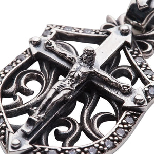rocker jesus cross pendant