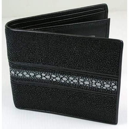 white pearl stingray leather wallet