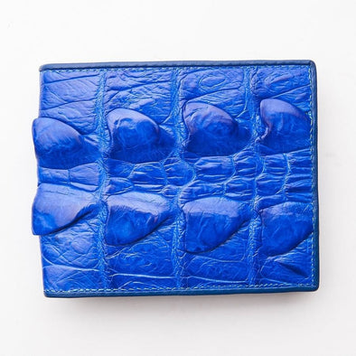 Royal Blue Crocodile Tail Skin Mens Wallets