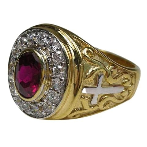 bishop ruby ring