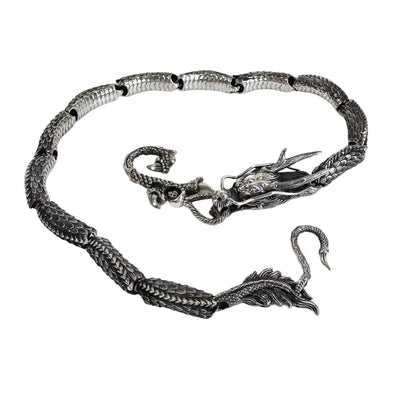 Ruby Dragon Wallet Chain-Bikerringshop