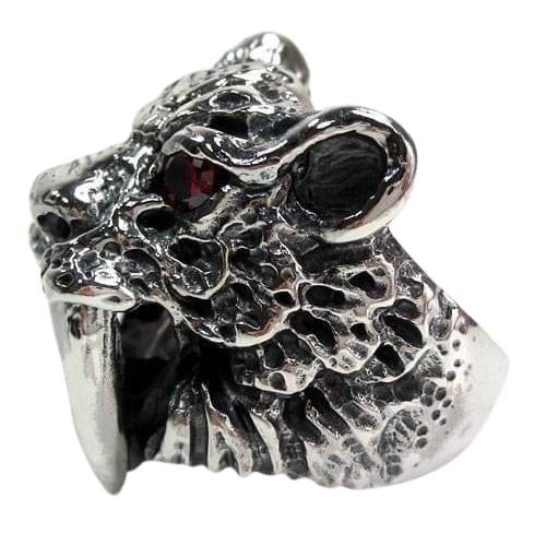 Sterling Silver Sabre Tooth Tiger Ring