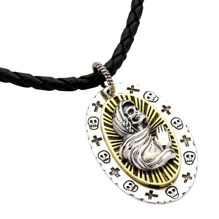 Saint Death Santa Muerte Pendant Necklace