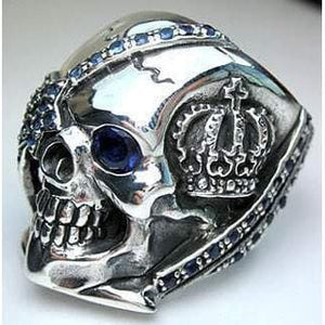 blue skull pirate ring