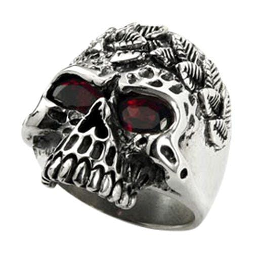 sterling silver savage skull ring