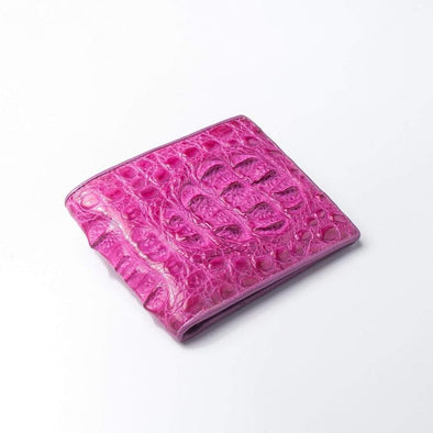 Shocking Pink Crocodile Hornback Wallet