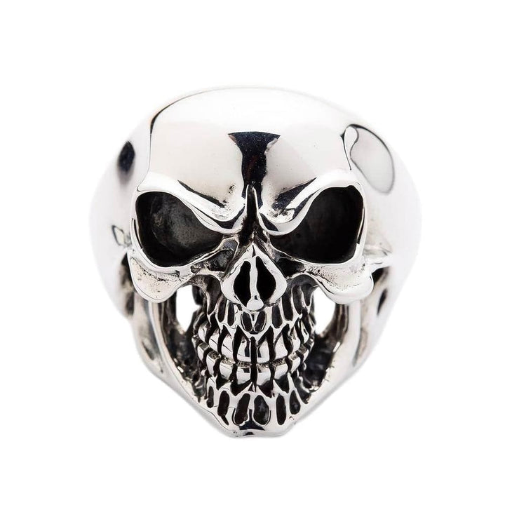 sterling silver Laughing skull ring