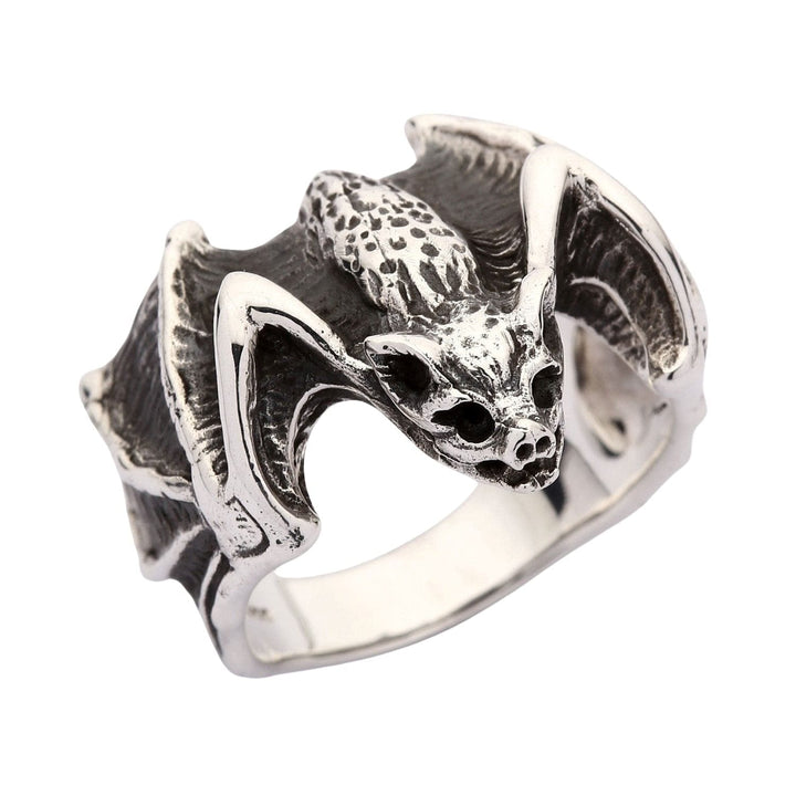 925 sterling silver bat ring