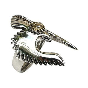 sterling 925 silver bird ring
