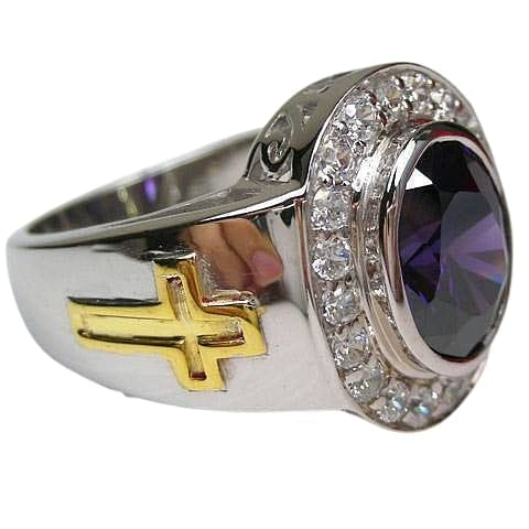 sterling silver bishop ring