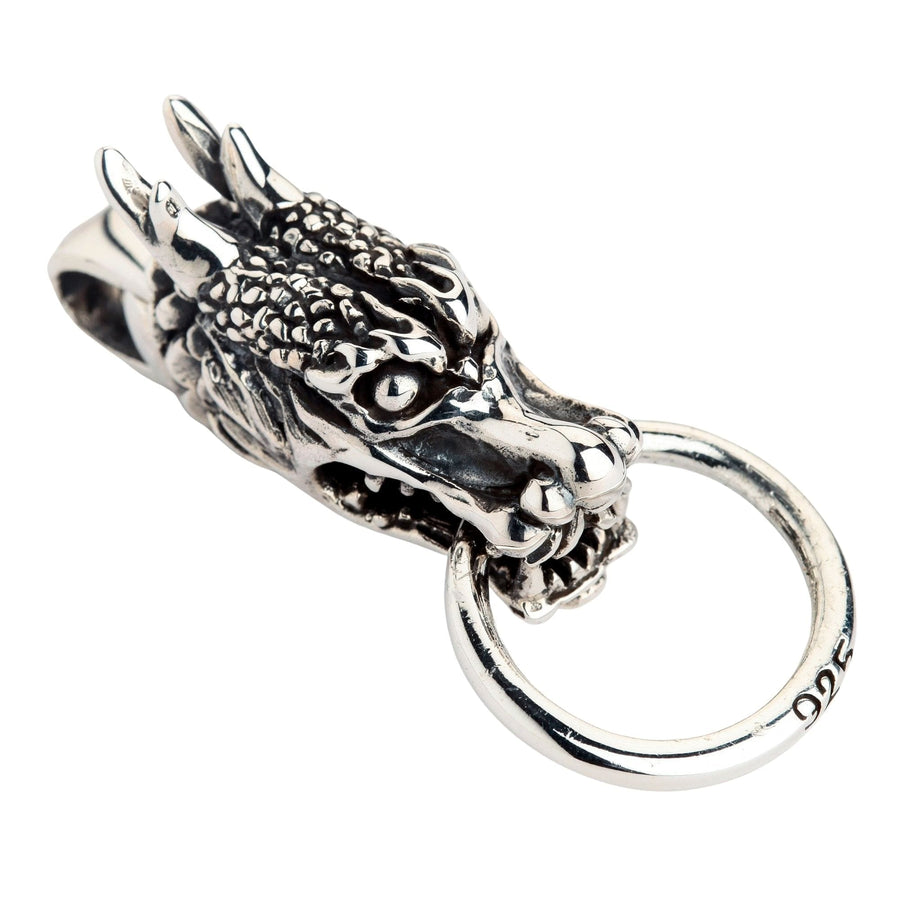 925 sterling silver dragon head pendant