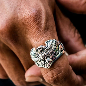eagle harley ring on finger