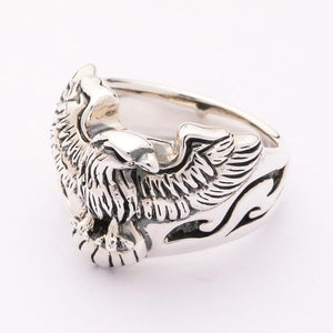 eagle silver ring