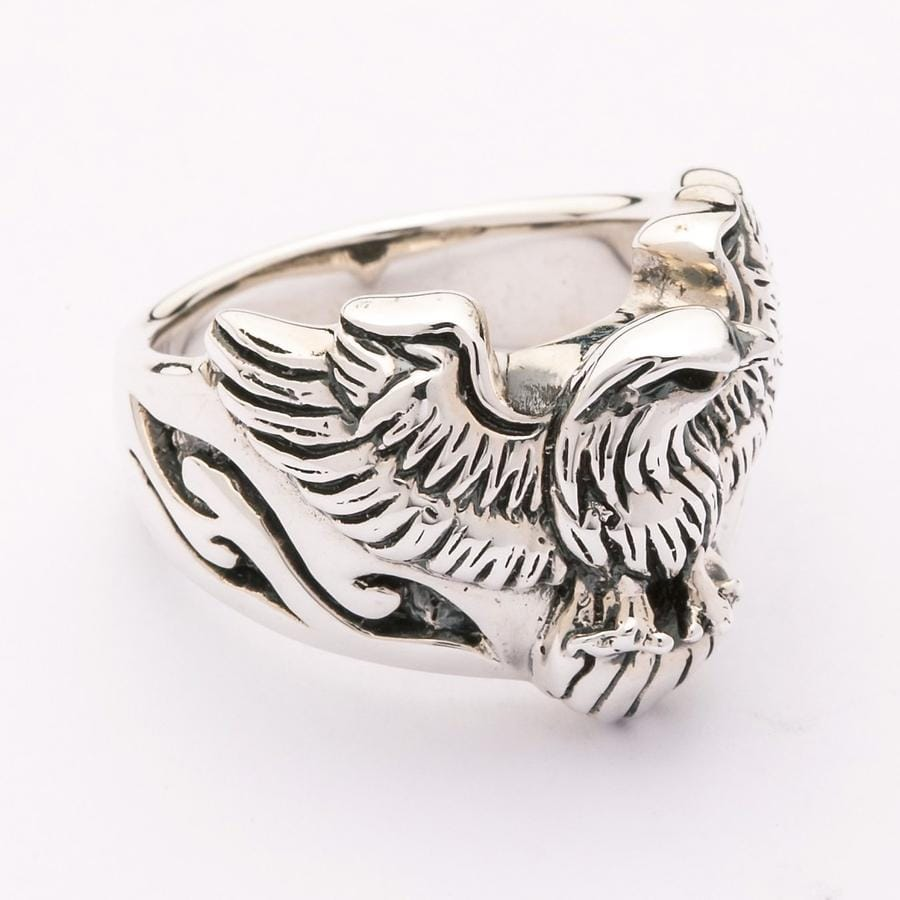 eagle men's band ring