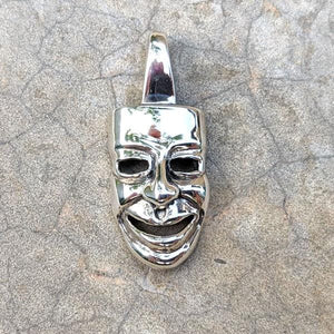 sterling silver joker clown mask pendant