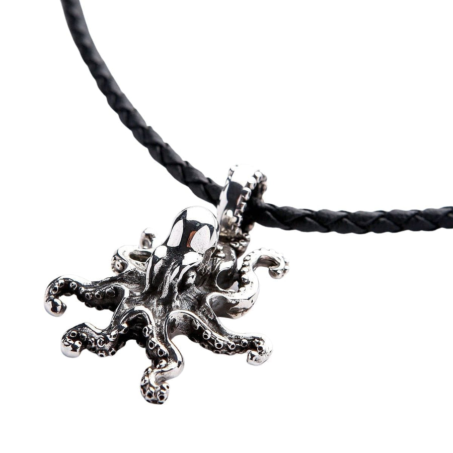 sterling silver octopus pendant necklace
