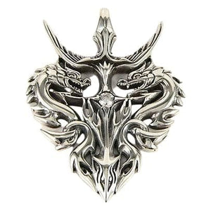 sterling silver knight mandirigma dragon pendant