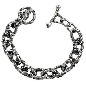 skeleton bone silver bracelet