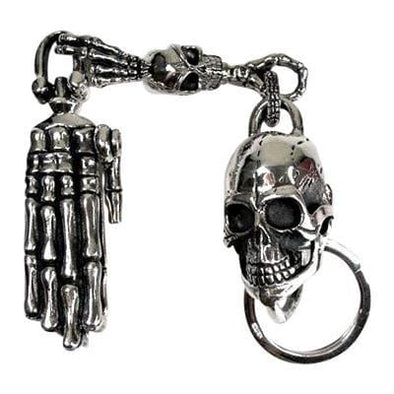Skeleton Hand Skull Key Chain