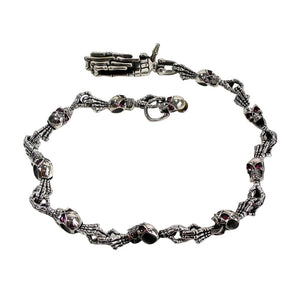 ruby eyes skeleton silver wallet chain