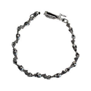 skull skeleton silver wallet chain